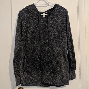 GreenTea, X-large, heathered gray hoodie
